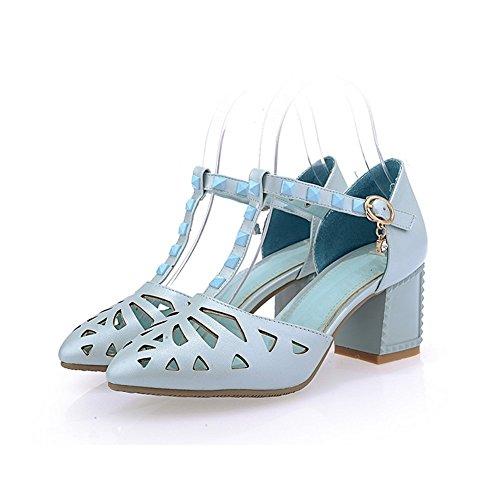 Adee Mesdames pointed-toe kitten-heels polyuréthane Sandales Bleu - bleu