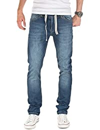Yazubi Herren Sweathose in Jeansoptik Rick - Skinny Fit - Jogginghose in Jeans-Look
