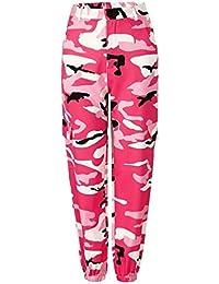 e7275c2d0c Mujer Pantalon Militar Casuales Anchas Streetwear Hip Hop Estilo Pantalones  Harem Pantalones De Linterna Elegantes Sencillos