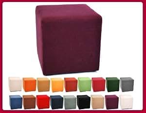 Pouf cube en microfibre microfaze Violet W113 19