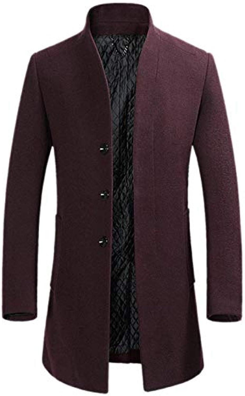 Giacca da Uomo Lungo Cappotto di Lana Essenziale Lana Lunga di Elegante  Cappotto Giacca Invernale Manica 17f0ea53055