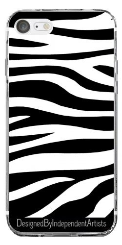 TPU Transparent SilikonHülle für Iphone 7 / Iphone 8 - Zebra-Druck by wamdesign (Zebra-druck-mode-tasche)