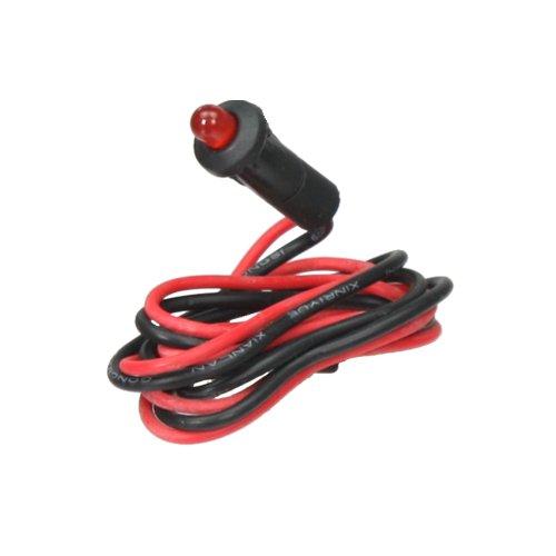 Kontrollleuchte, Kontrolllampe, Warnlampe mit Kabel 12V rot LED blinkend
