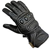 Juicy Trendz Hohe Qualität Rindsleder Profi Motorrad Handschuhe Schwarz X-Large