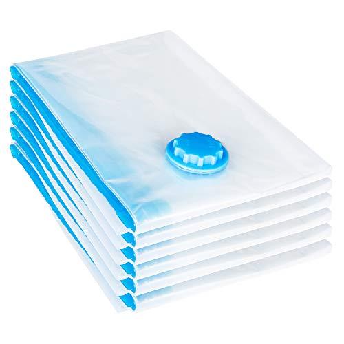 REXOO 6tlg Vakuum Beutel 100x80cm Aufbewahrungsbeutel Tasche Tüte Vacuum für Textilien jeder Art Platzsparer