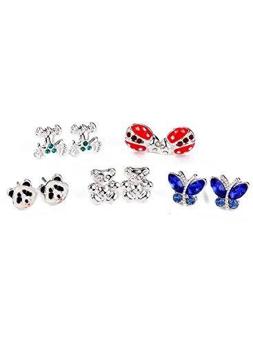 Neoglory-Jewellery-Anti-allergique-Boucles-dOreilles-Stud-Lot-De-105-PairesAnimaux-Incrusts-Stud-Earrings