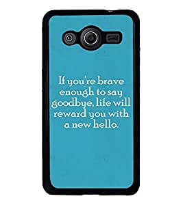 Fuson Designer Back Case Cover for Samsung Galaxy Core 2 G355H :: Samsung Galaxy Core Ii :: Samsung Galaxy Core 2 Dual (enough to say goodbye life will)