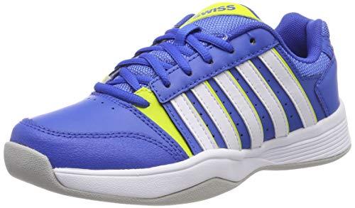 K-Swiss Performance Jungen Court Smash Carpet-STRNGBLU/NENCTRN/WT-M Tennisschuhe, Blau, 4.5 000070589, 37.5 EU