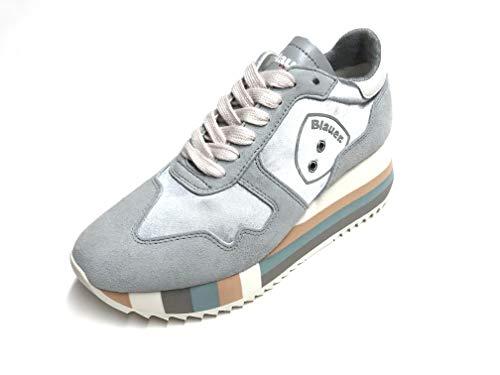 Blauer Sneaker SCHRLOTTE 01 Donna Grey (38 EU)