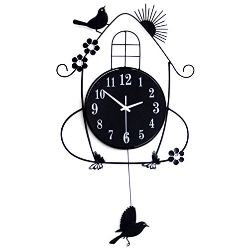 LifeUp- Pendolo con Uccellino cucù, Orologio da Parete...