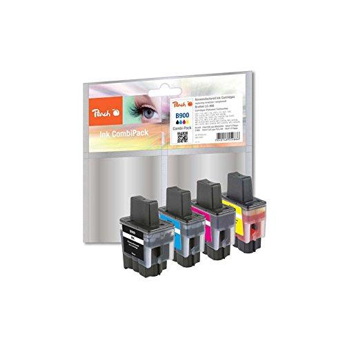Preisvergleich Produktbild Peach Spar Pack Tintenpatronen kompatibel zu Brother LC-900VAL