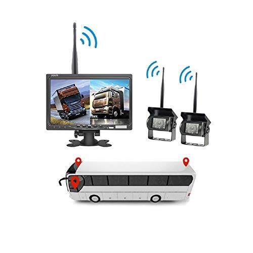SUN Drahtlose Auto-Rückfahrkamera, 2 x 7 wasserdichtes Rückfahrkameras-Einparkhilfesystem mit Zwei geteilten Bildschirmen für LKWs, Wohnmobile, Anhänger, Busse - Ford-lkw-bilder