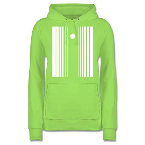 Shirtracer Karneval & Fasching - Doppler-Effekt - XL - Limonengrün - JH001F - Damen Hoodie (Herren Sheldon Doppler Effekt Kostüm)