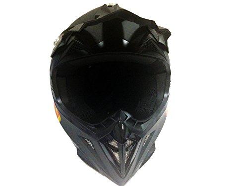 Cross Casco Negro Mate Quad ATV Motocross Enduro casco moto casco
