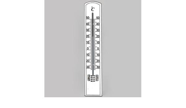Star Zimmer Thermometer Buche weiß lackiert 20 x 3,5 cm