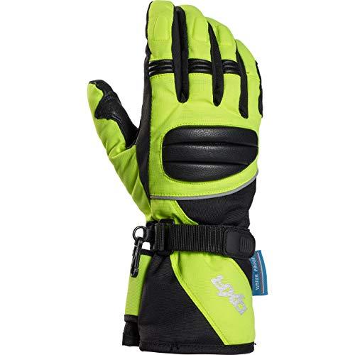 8 Wasserdichte Leder (DXR Motorradschutzhandschuhe, Motorradhandschuhe lang Damen Tour Leder-/Textilhandschuh 1.0, Motorradhandschuhe Damen, wasserdicht, winddicht, atmungsaktiv, Verstärkungen, Leder/Polyamid, Gelb, 8)