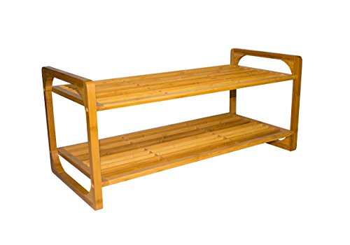 Sunny Times Schuhregal aus Holz HBT: 33 x 75 x 33 cm Schuhschrank Schuhständer Schuh Regal...