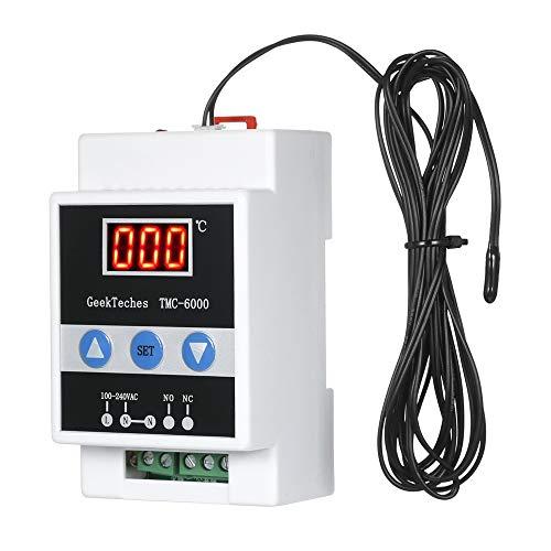 XZANTE Tmc-6000 110-240V Fuehrungsschiene Temperaturregler Digitaler Temperaturregler Thermostat Kuehlung Heizung Temperaturregelung - Heizung Kühlung Thermostat