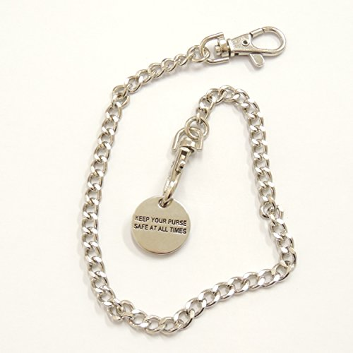 silver-handbag-purse-keys-theft-holiday-snatch-security-chain-with-detachable-trolley-coin-free-ship