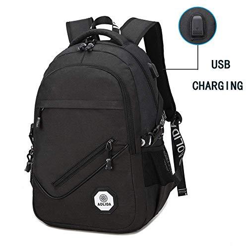 9c2d249e42 Zaino Porta PC Portatile Waterproof Smart USB 25L, Impermeabile  Multifunzionale Business Backpack maschio femmina doppia