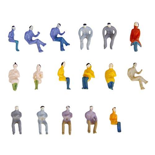 sharprepublic 100x Modell Sitzend Passagier Menschen Figuren Layout Zug Diorama 1: 100 HO OO (Miniatur-figuren-ho)