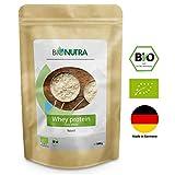BioNutra Whey-Protein Bio 1000 g, 77% Proteingehalt, hochwertiges Eiweiß, hergestellt in Deutschland aus Bio-Milch, 100% natürliche Zutaten, neutraler Geschmack