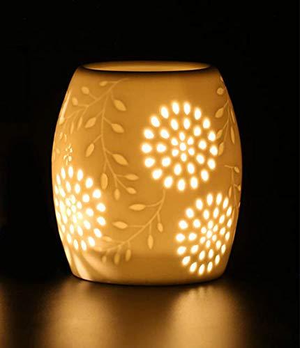 In ceramica portaluce essenziale Bruciatore olio aromaterapia cera candela crostata bruciatore risCaldatore...