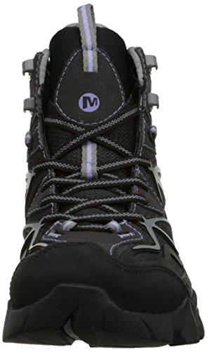 Merrell CAPRA MID SPORT GTX Damen Trekking & Wanderstiefel Schwarz (Black/Grey)