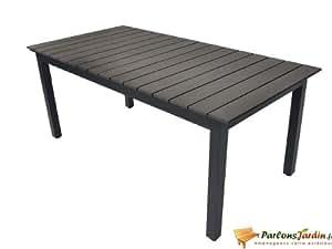Table rectangulaire en aluminium et composite Watson