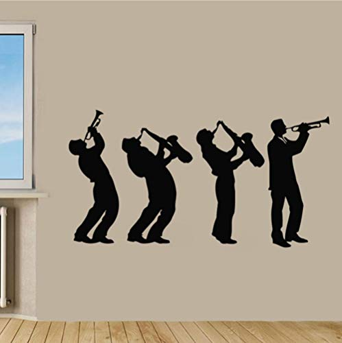 fkleber Musik Gruppe Kunst Design Jungen Spielen Saxophon Wandtattoos Dekor Wohnzimmer Schlafzimmer Wandbilder 79 * 43 ()