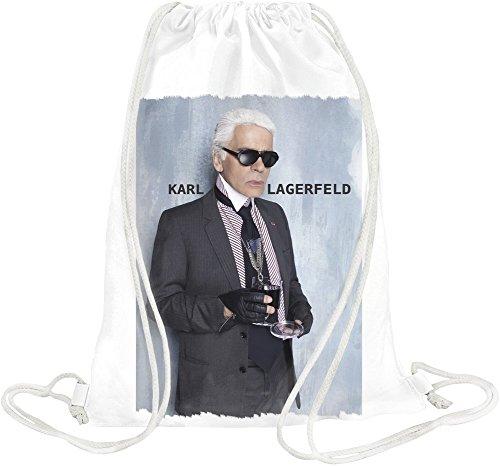 Portrait Of Karl Holding The Glass Drawstring bag