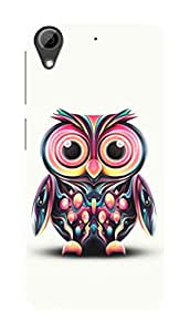 HTC Desire 626 G+ Black Hard Printed Case Cover by Hachi - Owl Design