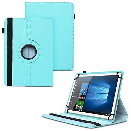 UC-Express NAUCI Odys Cosmo Win X9 Odys Winpad X9 Tablet Universal Schutzhülle aus Kunstleder Hülle Tasche Standfunktion 360° Drehbar Cover Case, Farben:Türkis
