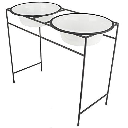 Platinum Pets Double Diner Futterstation mit Edelstahlnäpfen (Double Diner Erhöhte)