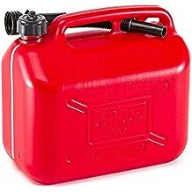 LEFTCAFE Bidon /à Essence en m/étal 2 x 20 l Pratique r/éservoir de Carburant de Moto r/éservoir deau Portable r/éservoir /à Essence bidon en m/étal avec Bec
