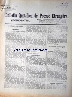 BULLETIN QUOTIDIEN DE PRESSE ETRANGERE [No 1051] d...
