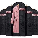 HOUSE DAY Lot de 5 Sacs à vêtements de Voyage lavables pour Robes, Costumes, Manteaux Noir 152 cm...
