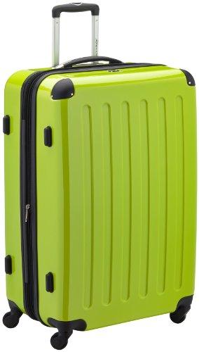 HAUPTSTADTKOFFER - Alex - Hartschalen-Koffer Koffer Trolley Rollkoffer Reisekoffer Erweiterbar, 4 Rollen, TSA, 75 cm, 119 Liter, Apfelgrün