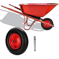 4.80/4.00-8 Roue de brouette plein Anti-crevaison pneumatique pour pneu de brouette en caoutchouc plein pour pneu de brouette
