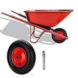 4.80/4.00-8 pneumatiche Ruota per carriola in Gomma piena Ruota di ricambio incl. cerchione in acciaio e asse pu