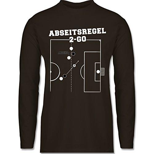 Shirtracer Fußball - Abseitsregel-2-Go - Herren Langarmshirt Braun