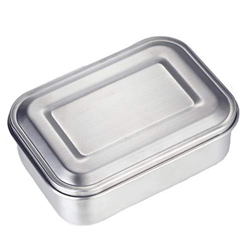 Preisvergleich Produktbild Hxijob Brotdose 304 Edelstahl geschlossene Brotdose auslaufsicher Brotdose quadratisch dicke Student Brotdose