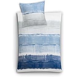 Kleine Wolke 6174773952 Mako-Satin Bettwäsche Long Beach, 2-teilig, 135 x 200 cm, taubenblau