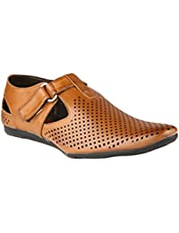 Wave Walk Tan Synthetic Men's Loafers