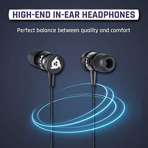 KLIM Fusion Audio Kopfhörer – Langlebig + 5 Jahre Garantie – Innovativ: In-Ear-Kopfhörer mit Memory Foam 2019 Version Schwarz - 2