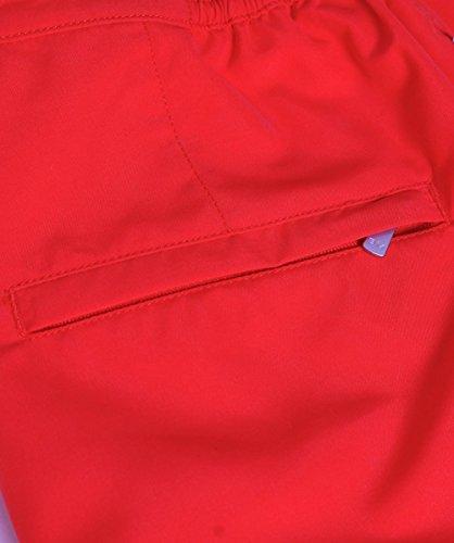 Bluemint Hommes ajustement sur mesure mi longueur liaison swim shorts Rouge Rouge