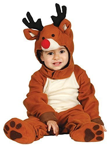 Baby Mädchen Junge süß Rentier Rudolph Weihnachten Festliche Fancy-Dress Kostüm Outfit 6-12 & 12-24 monate - 6-12 Months