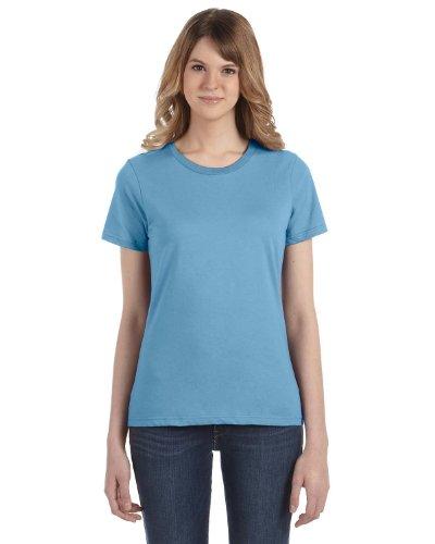 Anvil - Maglietta 100% Cotone - Donna Blu-azzurro
