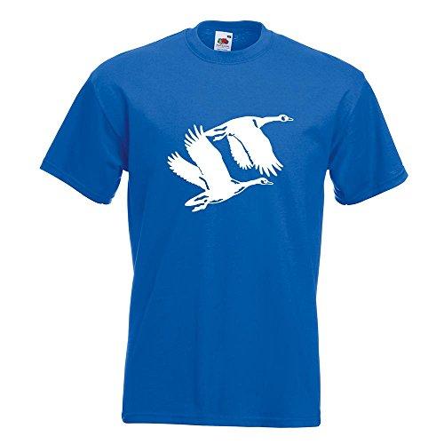 Kiwistar Enten - Flugenten - Duck T-Shirt in 15 Verschiedenen Farben - Herren Funshirt Bedruckt Design Sprüche Spruch Motive Oberteil Baumwolle Print Größe S M L XL XXL Royal