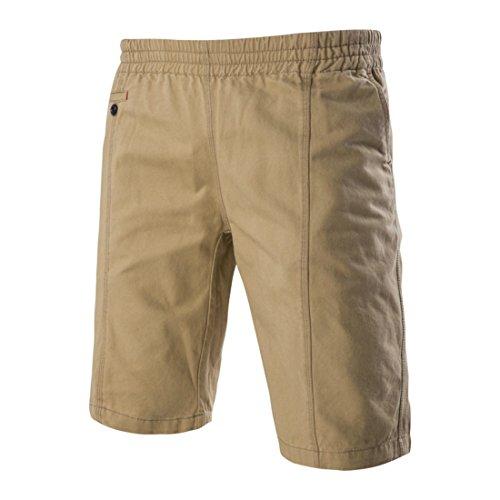 Men's Personality Pocket Design Tide Casual Shorts Kaki